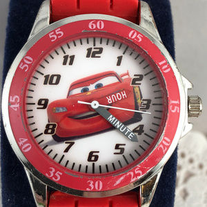 Cars Disney Watch  Teaching Car Time Child's Watch